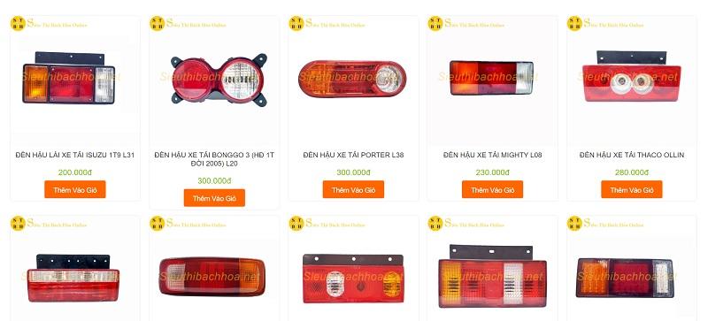 Siêu thị Bách hoá Online – địa chỉ mua đèn hậu uy tín