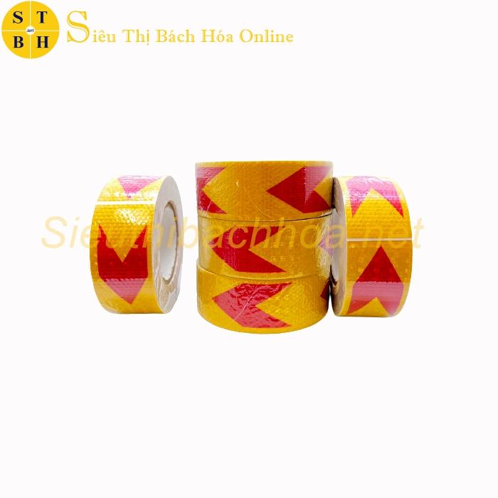 Decal Phản Quang Mũi Tên Đỏ Vàng DC01