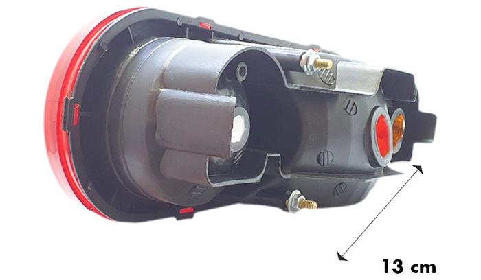 Kích thước chiều sâu đèn hậu xe tải Porter L38