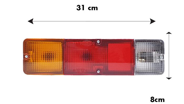 Kích thước chiều ngang và chiều sâu đèn hậu xe tải Suzuki L48