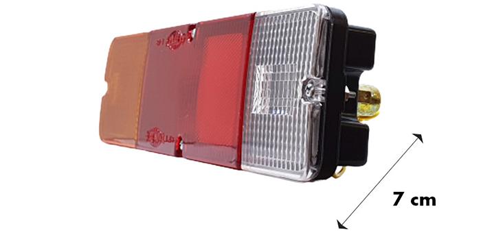 Kích thước chiều sâu đèn hậu xe tải Suzuki L48