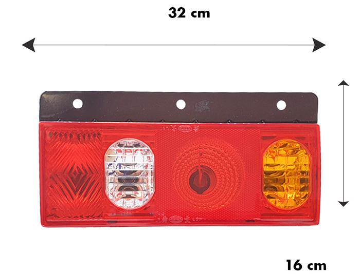 Kích thước chiều ngang và chiều cao đèn hậu xe tải Veam L51