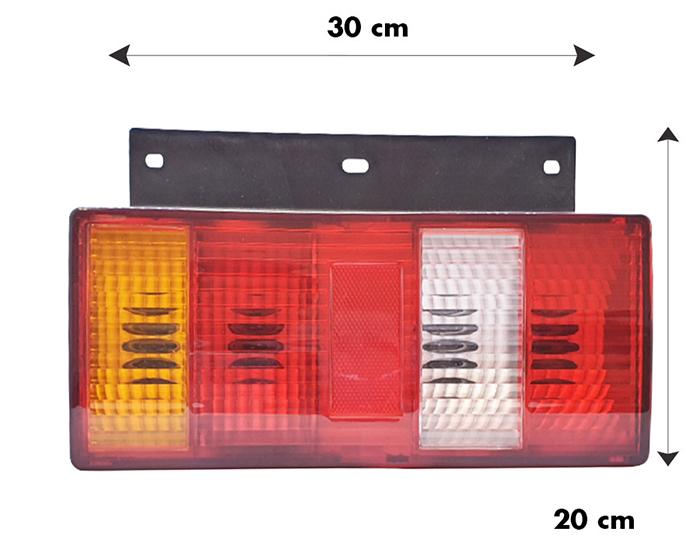 Kích thước chiều ngang và chiều cao đèn hậu xe tải Vinasuki LL24